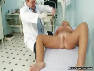 naughty nurse inspects a grownup lady part4