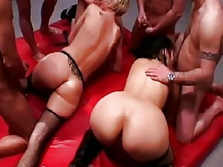 two strong anal milfs into fishnet pantyhose