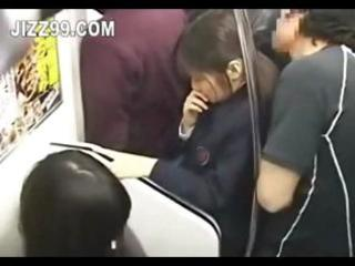 japanese teenage babe sperm drilled into train 02