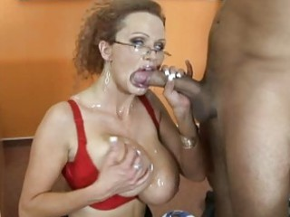 delightful busty blonde teacher banging hard and