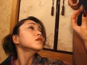 Sweet japanese mouth fucking cock