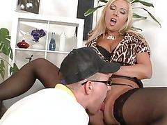 blonde cougar daria glower gives a super dick