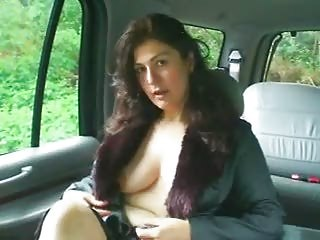 yasmine inside the car