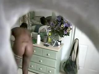 ideal body ebony teenage after tub through spy cam