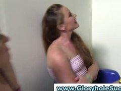 desperate gloryhole whores obtain awesome
