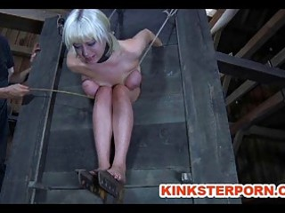 bdsm slave cherry torn extreme locked inside