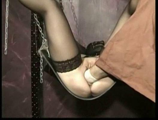 masked slave with her vagina gangbanged and foot