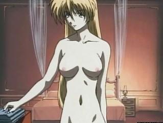 virgin blond hentai anime girl with pierce into