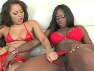 black girl and doll asian swapping white cream
