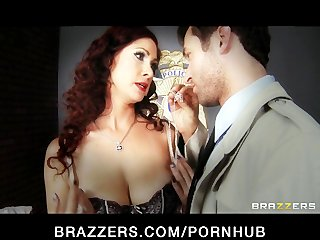 Horny redhead with perfect natural tits loves