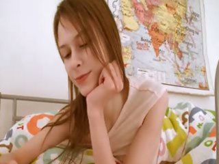 young teen chick doing slit homework